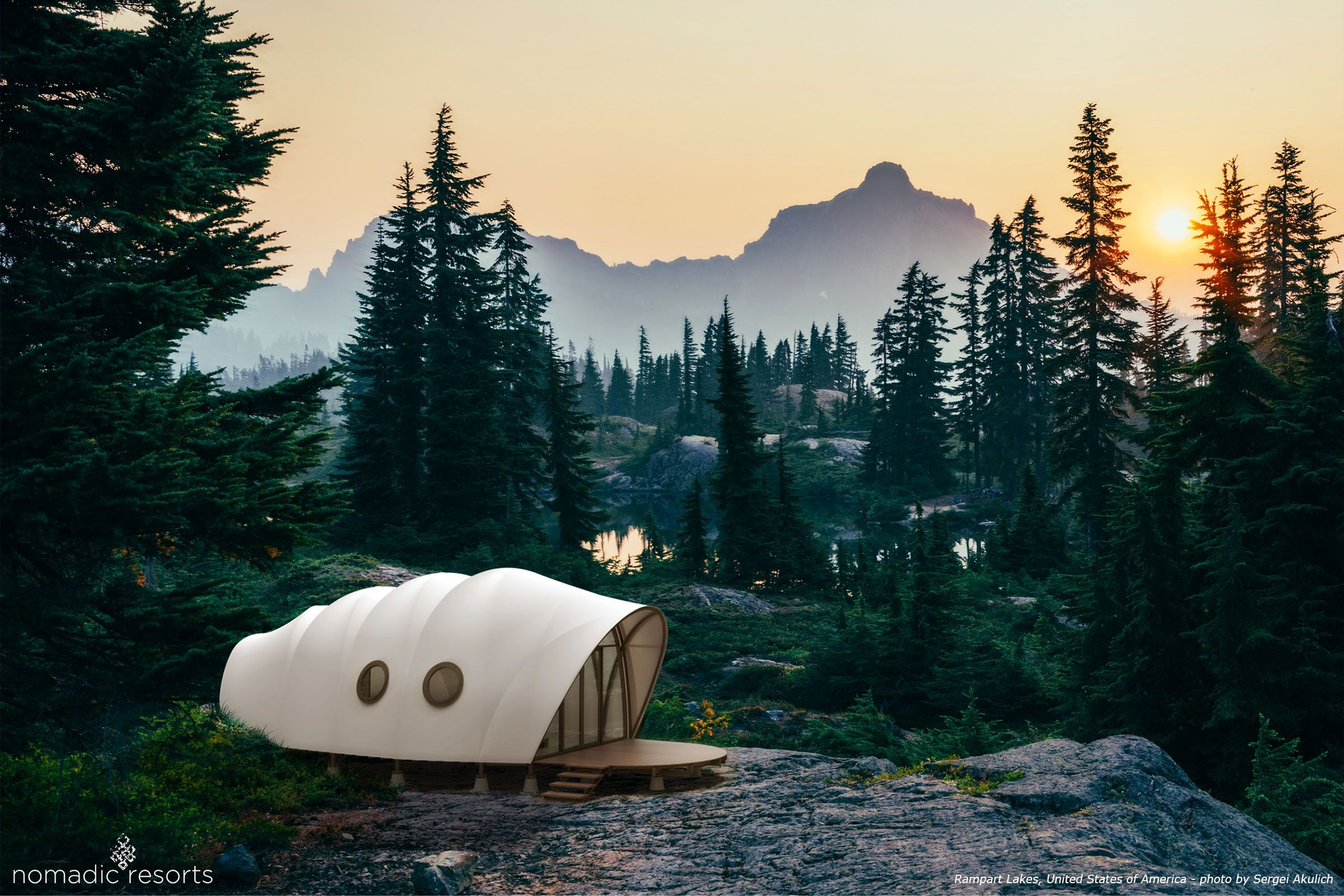 looper cocoon tent pod in rampart lakes